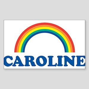 CAROLINE (rainbow) Rectangle Sticker