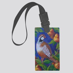 Partridge in a Pear Tree Large Luggage Tag