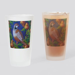 Partridge in a Pear Tree Drinking Glass