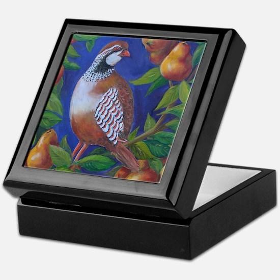 Partridge in a Pear Tree Keepsake Box