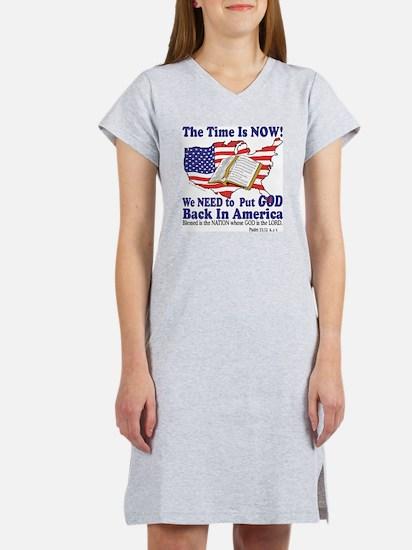 God in America Women's Nightshirt