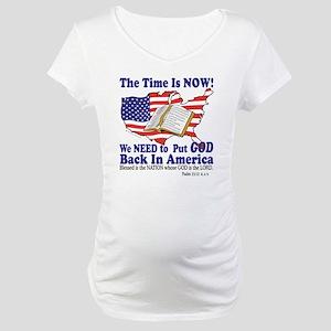 God in America Maternity T-Shirt