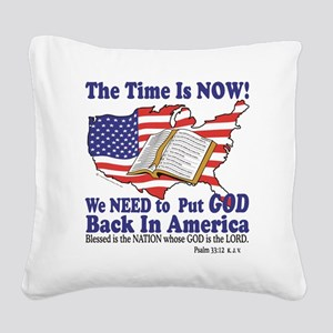 God in America Square Canvas Pillow