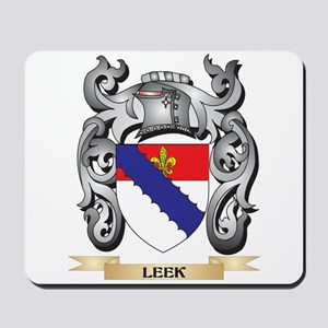 Leek Coat of Arms - Family Crest Mousepad