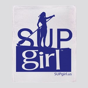 SUPgirl_T5_blue Throw Blanket