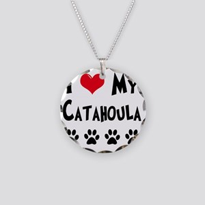 I-Love-My-Catahoula Necklace Circle Charm