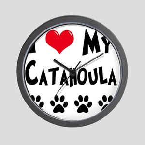 I-Love-My-Catahoula Wall Clock
