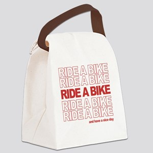 RideABikeQuote_cafepress_tshirt_w Canvas Lunch Bag
