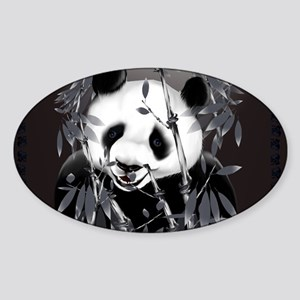 CalenderGrey Tone Panda Sticker (Oval)