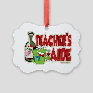Teachers-Aide-Wine Picture Ornament