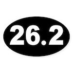 Black 26.2 Oval Sticker