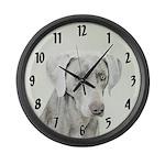 Weimaraner Large Wall Clock
