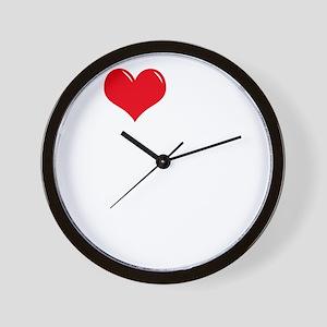 I-Love-My-Catahoula-dark Wall Clock
