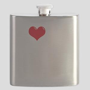 I-Love-My-Catahoula-dark Flask