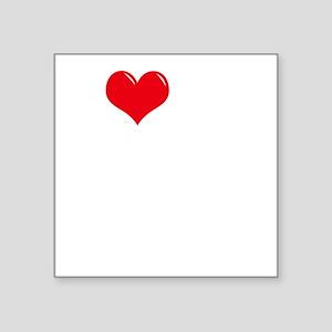 "I-Love-My-Catahoula-dark Square Sticker 3"" x 3"""