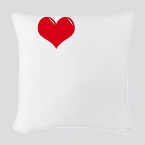 I-Love-My-Catahoula-dark Woven Throw Pillow