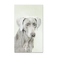 Weimaraner Rectangle Car Magnet