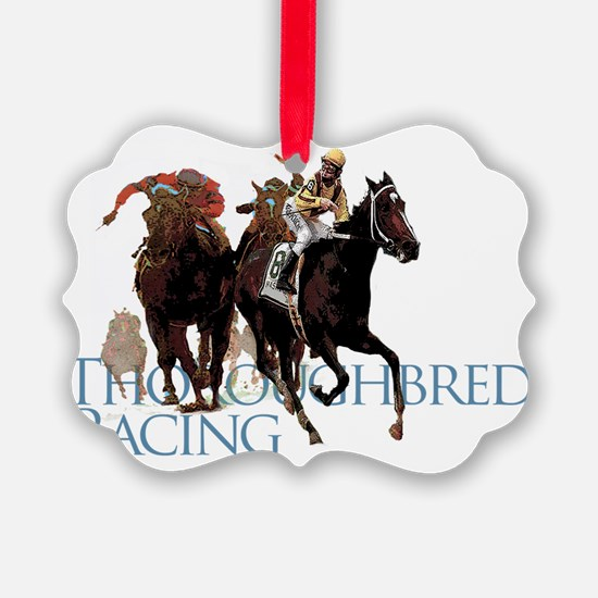 thoroughbred racing Ornament