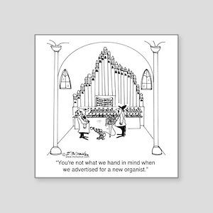 "4754_organ_cartoon Square Sticker 3"" x 3"""