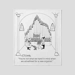 4754_organ_cartoon Throw Blanket