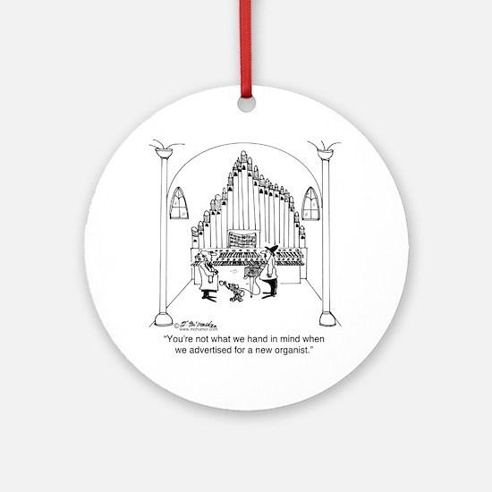 4754_organ_cartoon Round Ornament