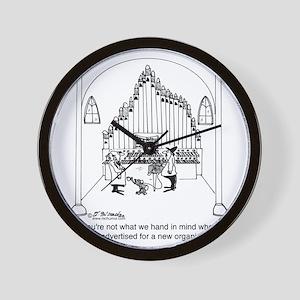 4754_organ_cartoon Wall Clock
