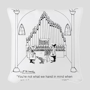 4754_organ_cartoon Woven Throw Pillow