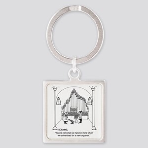 4754_organ_cartoon Square Keychain