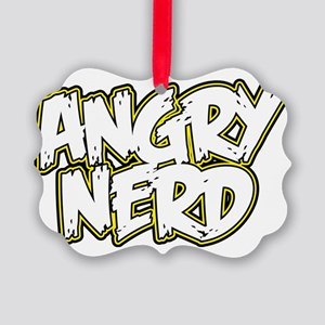 angry-nerd Picture Ornament