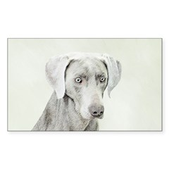 Weimaraner Sticker (Rectangle)