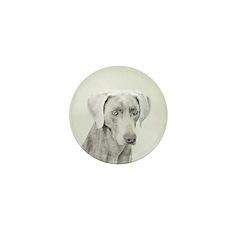 Weimaraner Mini Button (100 pack)