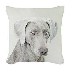 Weimaraner Woven Throw Pillow
