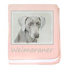 Weimaraner baby blanket