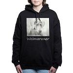 Weimaraner Women's Hooded Sweatshirt
