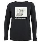 Weimaraner Plus Size Long Sleeve Tee