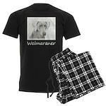 Weimaraner Men's Dark Pajamas