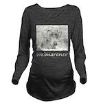 Weimaraner Long Sleeve Maternity T-Shirt