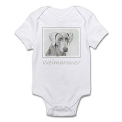 Weimaraner Baby Light Bodysuit