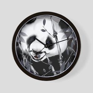 CalenderGrey Tone Panda2 Wall Clock