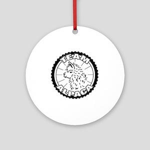TeamAlpaca2 Round Ornament