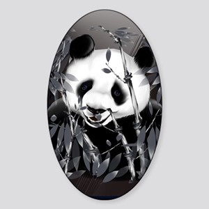 journalGrey Tone Panda Sticker (Oval)