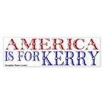 America for John Kerry Bumper Sticker