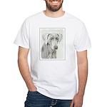 Weimaraner White T-Shirt