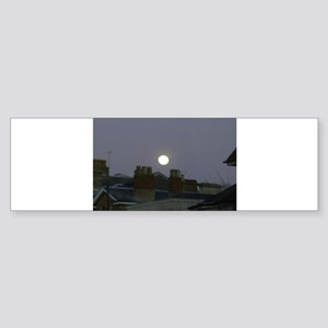Full Moon Bumper Sticker