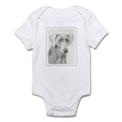 Weimaraner Baby Light Bodysuit