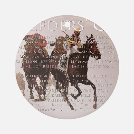 Breeders Cup Round Ornament