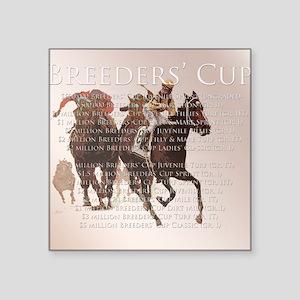 "Breeders Cup Square Sticker 3"" x 3"""