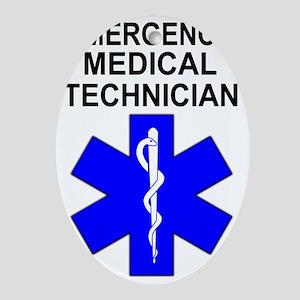 EMT Shirt Oval Ornament