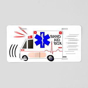 Band Aid Box Aluminum License Plate