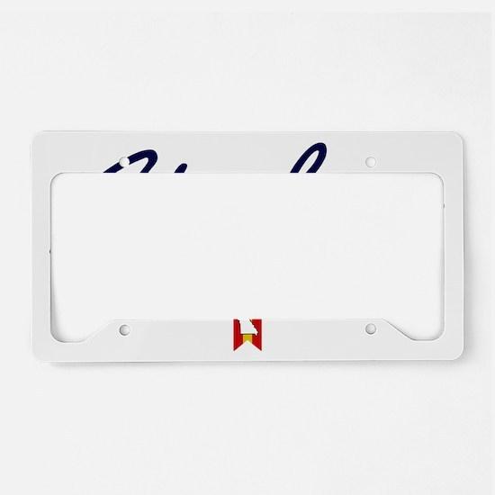St Louis Script W License Plate Holder